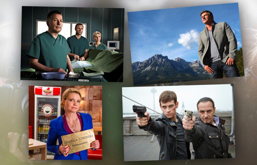 """""""In Aller Freundschaft"""", """"Der Bergdoktor"""", """"Danni Lowinski"""" oder """"Alarm für Cobra 11"""" - welche TV-Serie hat einen BAMBI verdient? (c) MDR/Rudolf Wernicke; ZDF/Susanne Sigl; SAT1/ Frank Dicks;  RTL/ Guido Engels"""