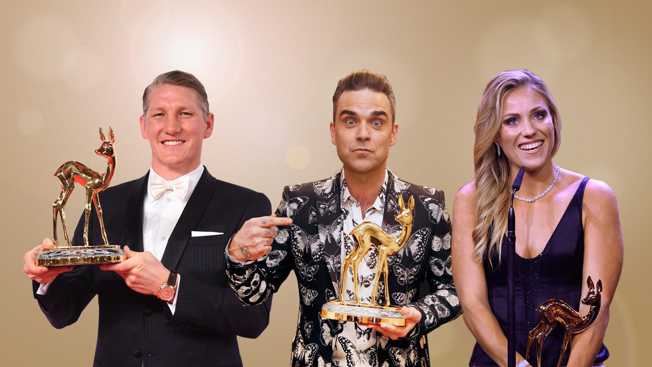 BAMBI-Preisträger 2016: Bastian Schweinsteiger, Robbie Williams und Angelique Kerber (c) HBM