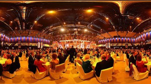 Kurz vor der Verleihung in der Metropolishalle in Potsdam