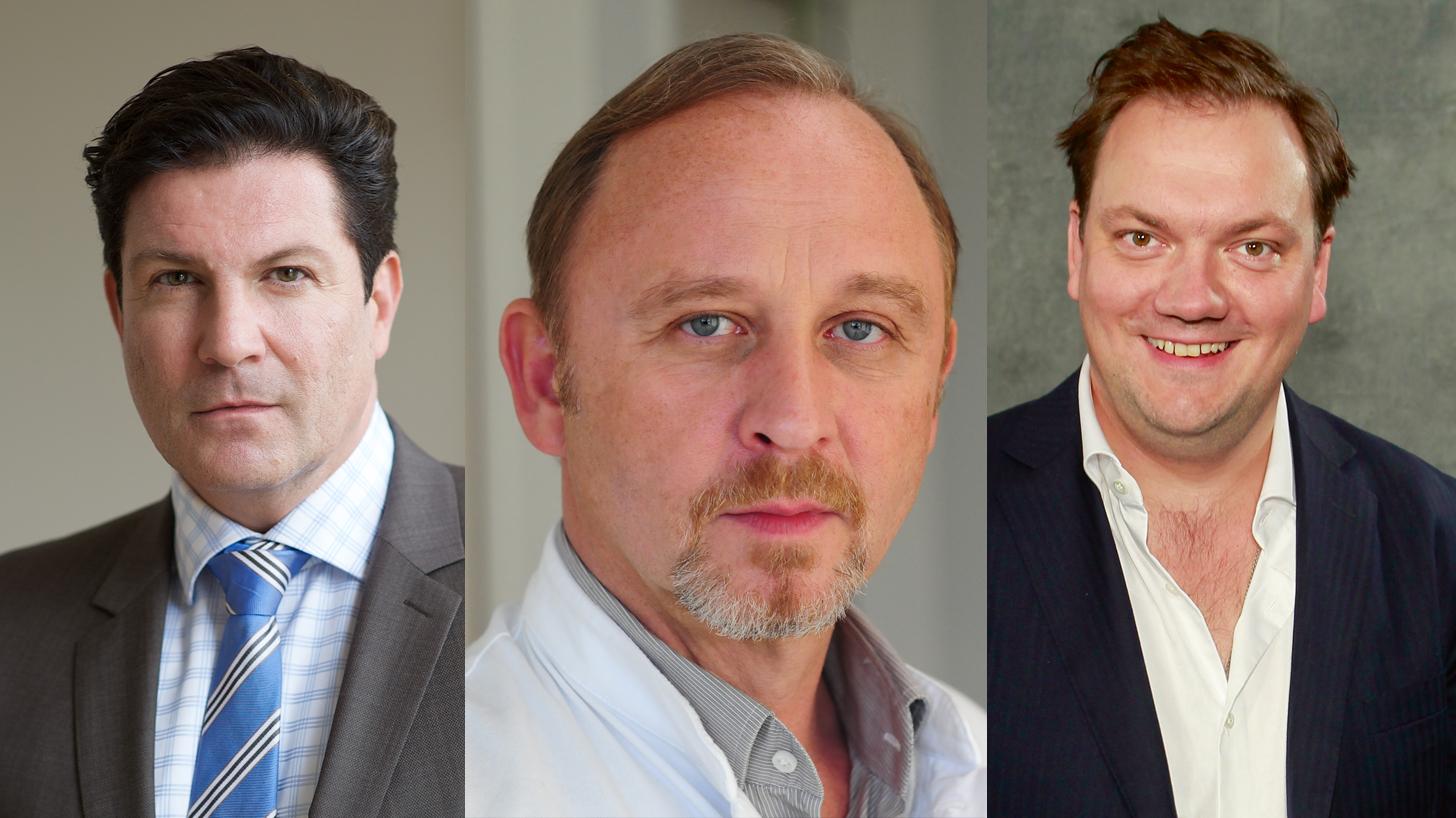 """Nominiert für den BAMBI in der Kategorie """"Schauspieler National"""": Francis Fulton-Smith, Alexander Held und Charly Hübner"""