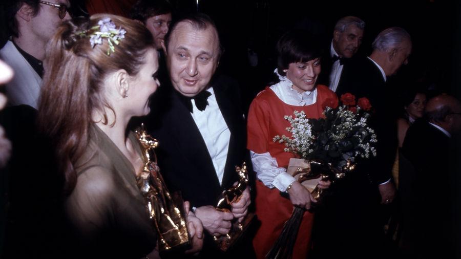 Schauspiel, Politik und Sport – je ein BAMBI ging an Schauspielerin Marthe Keller, Außenminister Hans-Dietrich Genscher und Ski-Star Rosi Mittermaier.