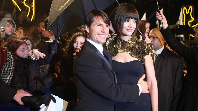 Tom Cruise und seine Ehefrau Katie Holmes bei BAMBI 2007 in Düsseldorf